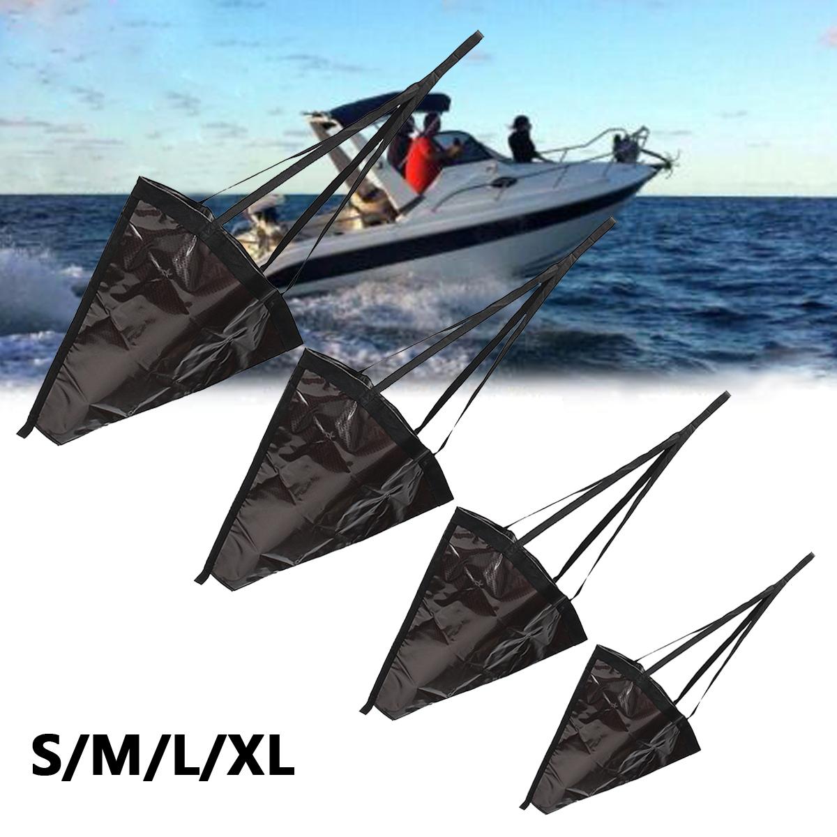 60-135cm Heavy   Sea Anchor Drogue Sail Drift Brake For Fishing For Canoe Inflatable Boat Fishing Boat Dinghy Yacht
