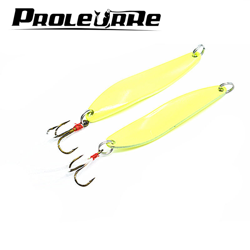 1Pcs Luminous Metal Spinner Spoon Fishing Lure Hard Baits Sequins Noise Paillette with Feather Treble Hook Tackle 5/7/10/13g lifelike earthworm style fishing baits 5 pcs