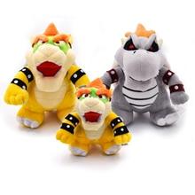17-24cm Anime Super Mario Plush 3D Land Bone Dragon Plush Toy Bolster Dry Bones Bowser Koopa Plush Soft Stuffed Animals Doll