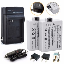 2Pcs Probty LP E5 LPE5 LP E5 Battery Charger For Canon EOS Rebel XS Rebel T1i