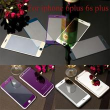 2pcs lot Front Back Tempered Glass For iPhone6 6sPlus Full Cover Screen Protector Mirror Effect Color