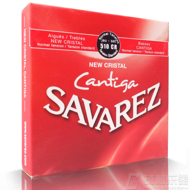 Savarez 510 סדרת Cantiga חדש Cristal/Cantiga רגיל מתח מיתרים מלא סט 510CR