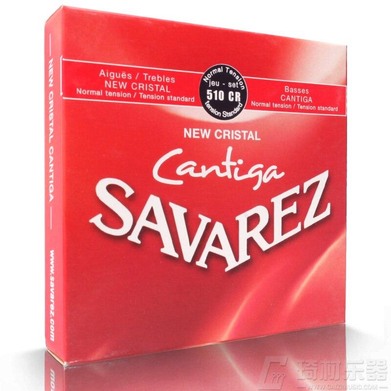 Savarez 510 cantiga série nova cristal/cantiga tensão normal guitarra clássica cordas conjunto completo 510cr