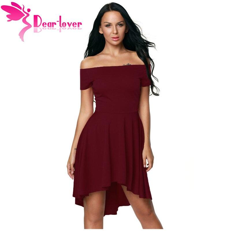 Kallis Lover Elegantne Naised 2017 Pidu Kleidid Seksikas Väljas Õla Burgundia Kõik Rage Skater Kleit Vestidos de Festa LC61346
