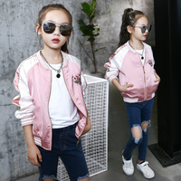 New Toddler Girl's Bomber Jacket Autumn Spring Embroidered Baseball Jacket Children Kids Outerwear Tops Outfits Windbreaker Coat