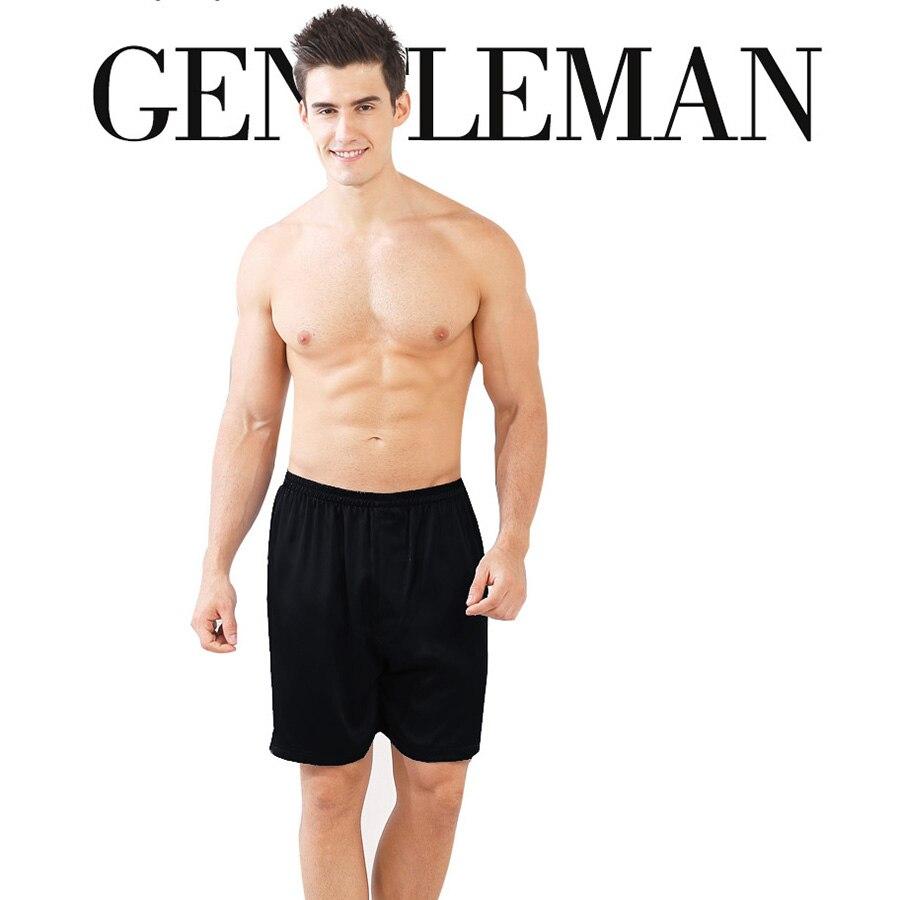 7a45dc322af 100% шелковый креп Для мужчин Пляжные шорты для будущих мам Рубашки  домашние чистого шелка Ткань легкие дышащие штаны матовый черный Цвет