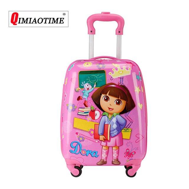 Saco Trolley de Viagem Mala Enfant Sac do Miúdo dos desenhos animados para Crianças Crianças Rolando Mala De Viagem Viajar Sacos De Bagagem com Rodas