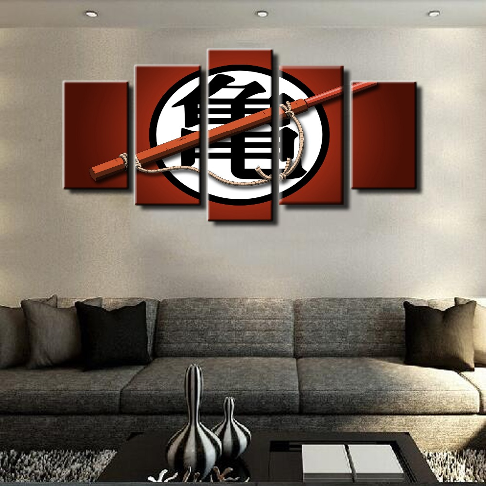 5 Piece Modular Home Decor Dragon Ball Z Paintings on Canvas children s  Wall Art for Home. Online Buy Wholesale dragon ball z decorations from China dragon