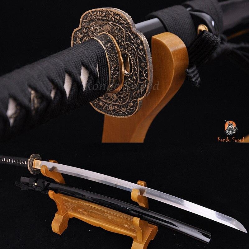 Japonský samurajský meč Katana Mantis Tsuba s vysokým obsahem uhlíku Clay tempered Full Tang