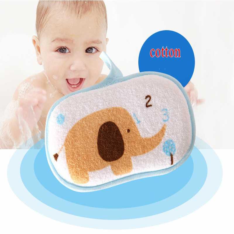 3 Pcs/lot New Baby Towel Accessories Infant Shower Faucet Bath Brushes Sponge Cotton Rubbing Body Wash Child Brush Bath Brushes