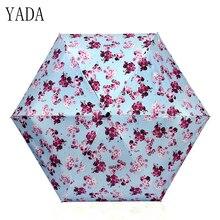 YADA Mini Ultralight Flower Pattern Five Folding Umbrella Rain Women brand Womens Pocket high quality Umbrellas YS120