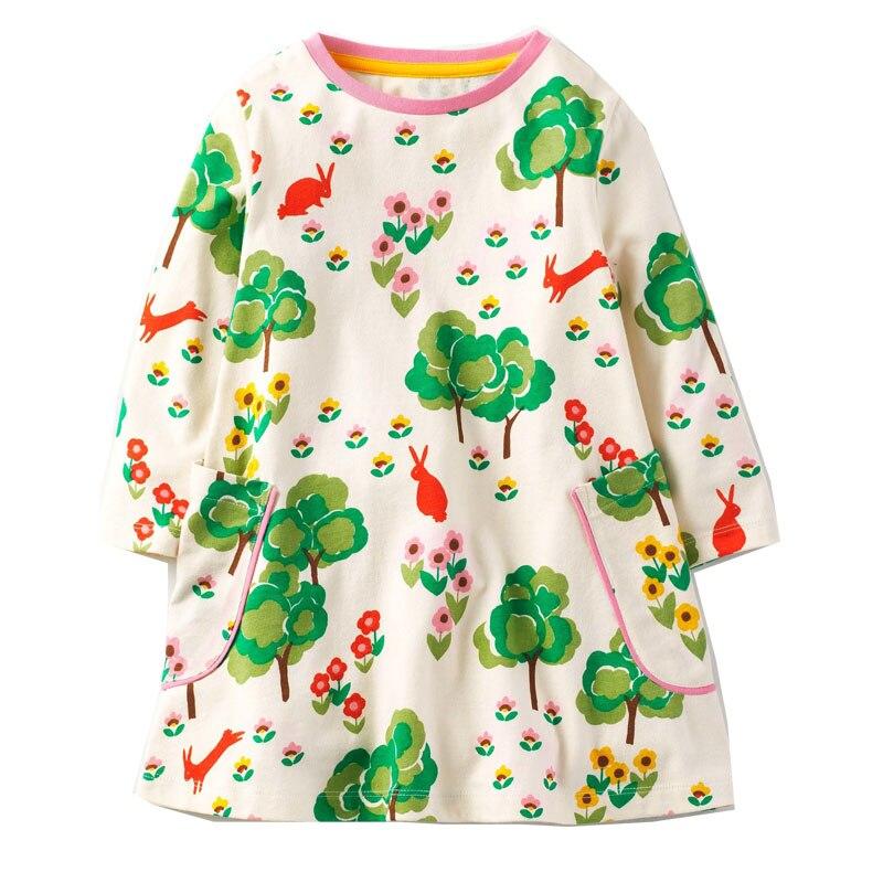 Baby Girl Dress 100% Cotton 2017 Brand Princess Dress Enfant Christmas Autumn Kids Dresses for Girls Children Clothes Vestidos