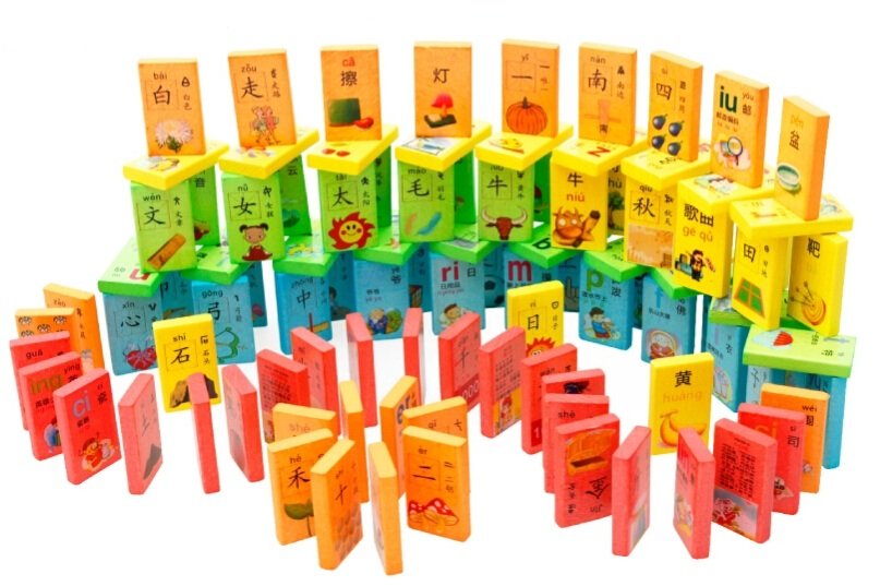 100pcs Wood Learning Chinese Characters dominoes Kids toys Wooden Educational Authentic Standard Wooden Toy for Fun Game W060 dayan gem vi cube speed puzzle magic cubes educational game toys gift for children kids grownups
