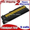 9 клетки аккумулятор для ноутбука Lenovo ThinkPad L421 L510 L512 L520 SL410 SL410k SL510 T410 T410i T420 T510 T510i T520 T520i W510 W520