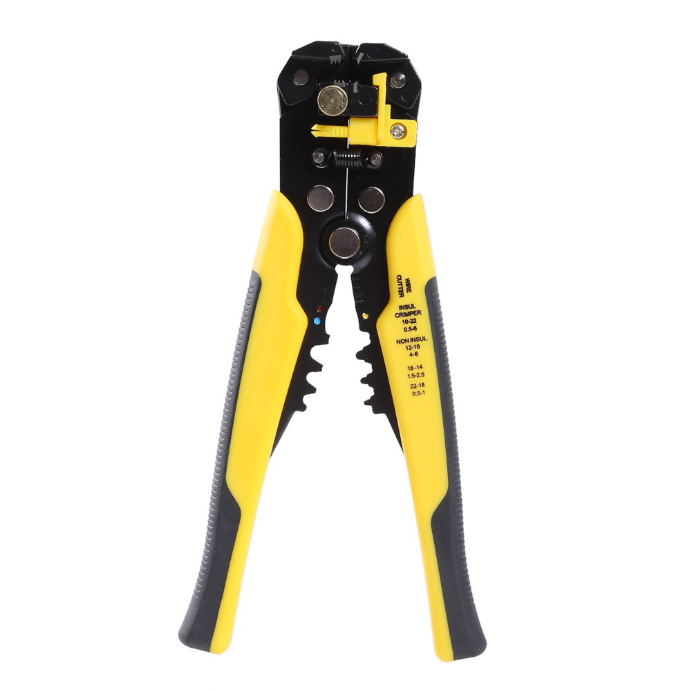 3 in 1 Automatic Cable Wire Stripper Cutter Crimping Plier Self Adjusting Crimper Stripping Plier Terminal Hand Tool Electric automatic cable wire stripper stripping crimper crimping plier cutter tool diagonal cutting pliers