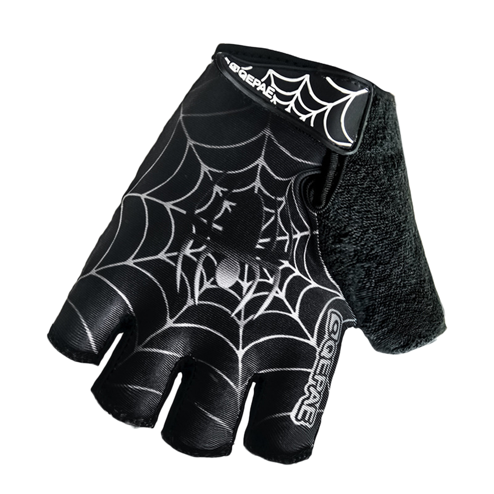 Hot White And Red Shockproof Gel Padded Bike Gloves Black Bicycle