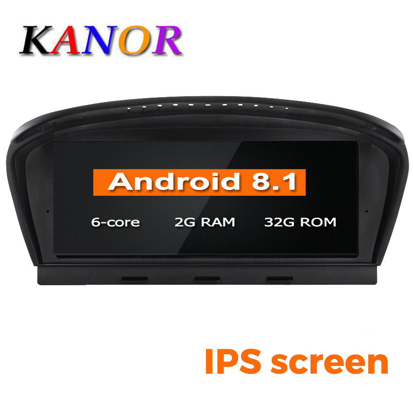 KANOR ID6 32 2G + G Android 8.1 rádio car multimedia player para BMW Série 5 E60 E61 E63 e64 E90 E91 E92 CCC CIC sistema