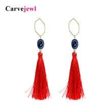 Carvejewl long earrings irregular pearl cotton Tassel Earrings for women jewelry Drop Dangle Earrings girl gift new fashion hot все цены