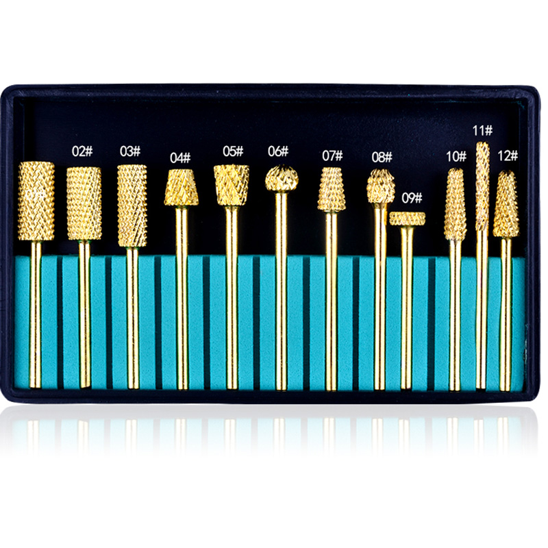 12Pcs/set High Quality Tungsten Carbide Nail Drill Bits for Electric Nail Drill Machine Pedicure Manicure Nail Art Tools excellet value 1 pc blue medium 3 32 white ceramic nail drill bit manicure professional electric manicure cutter nail tools