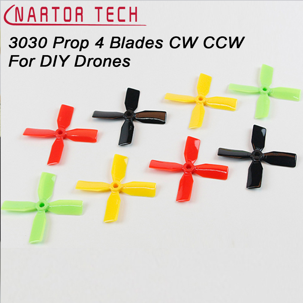 10 Pair / Pack 3030 Propellers 4 Blades CW CCW For DIY 190 180 150 Racing Quadcopter Mini Drones