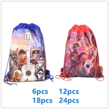 New Coco Movie Cartoon Theme  Non-woven Drawstring Backpack Gift Bag Storage Kids Girl Boys favor school bags Party Supplies
