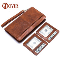 JOYIR Wallet Men Leather Purse Men's Clutch Wallets Long Handy Bags Business Carteras Wallets Men's Genuine Leather Purse 9320
