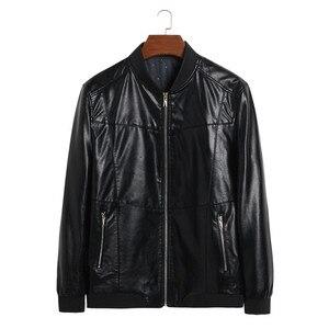 Image 2 - אמיתי עור מעיל גברים מעילי אמיתי כבש מותג שחור זכר אופנוע עור מעיל חורף מעיל בתוספת גודל 10XL 8XL 6XL