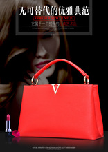2017 Women's fashion handbag trend of the portable shoulder bag leather bag genuine leather bag famous designers brand tote