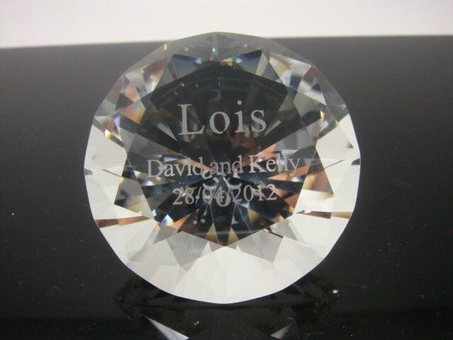 Darmowa wysyłka 150 sztuk 50mm przezroczysty kryształ diament przycisk do papieru dla upominki na imprezę urodzinową dekoracje ślubne centerpieces w Prezenty imprezowe od Dom i ogród na AliExpress - 11.11_Double 11Singles' Day 1