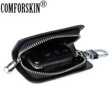 COMFORSKIN Guaranteed Genuine Leather Key wallets New Arrivals Multi-function Case For Cars Cowhide Wallet