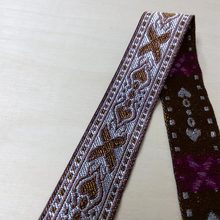2.8cm 28mm 1-1/8' White Brown X Hearts Block Bilateral Bedding Lace Curtain Laciness National Jacquard Ribbon Embroidery Webbing(China)