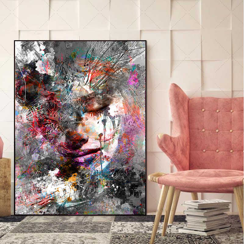 MUTU Art Canvas Painting Pictures Wall Poster No Frame Abstract Painting On Canvas Home Decoration For Living Room Wall Art
