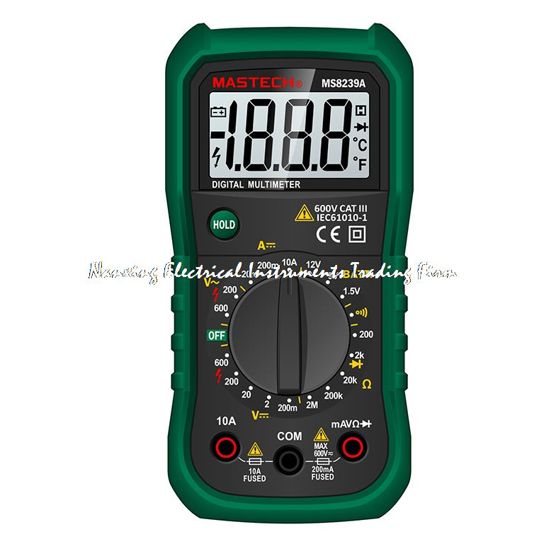 MASTECH MS8239A LCD Mini Digital Multimeter DMM AC / DC Voltmeter DC Ammeter Ohmmeter Meter Tester w / Battery Test Professional