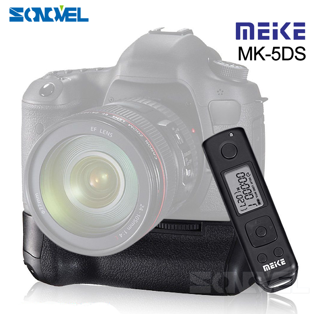 MEIKE MK-5DS R 2.4G Wireless Replacement Vertical Battery Grip Holder for Canon 5D Mark III / 5DS / 5DS R Cameras AS BG-E11 meike mk 5d4 vertical battery grip for canon eos 5d mark iv as bg e20 compatible camera works with lp e6 or lp e6n battery