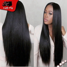 Silky Straight Human Hair Wig Brazilian Full Lace Human Hair Wigs Straight 130 Density Glueless Lace Front Wigs Natural Hairline
