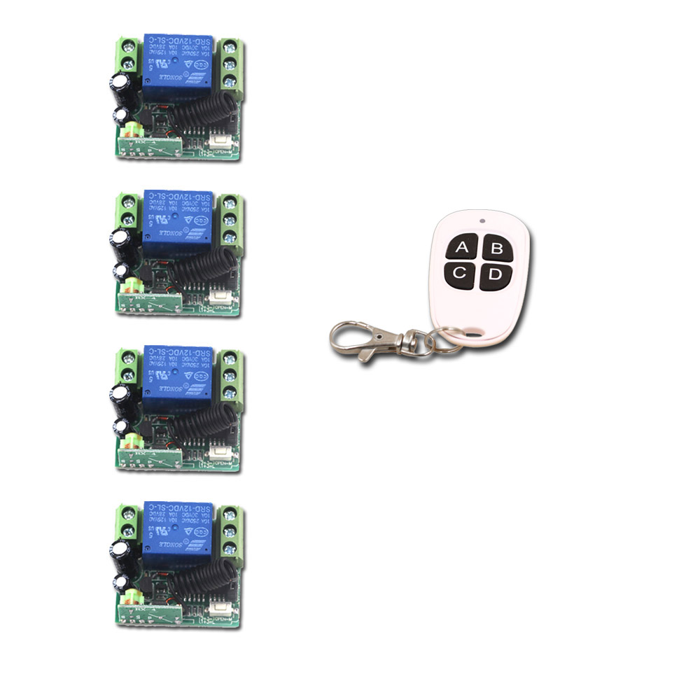 Wireless Remote Control Switch DC 12V 1CH 1 CH 10A Mini Relay Receiver Light LED Switch Transmitter Receiver 315Mhz/433Mhz ac 220v 10a 1ch relay wireless remote control switch system long range transmitter mini size receiver 315mhz 433mhz
