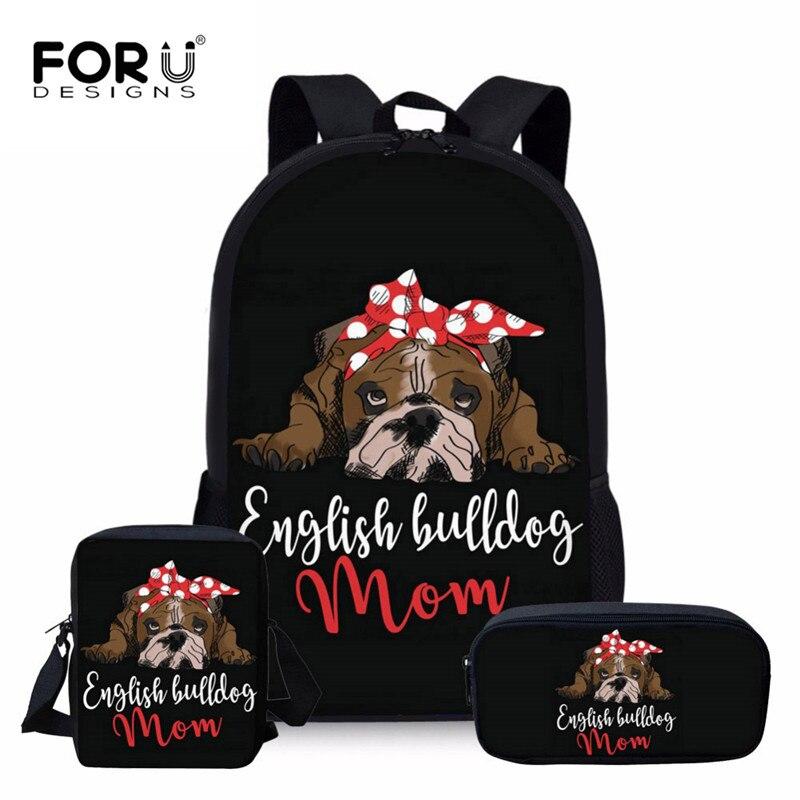 Self-Conscious 3d Bags Girls Backpack Kids Puppy Children Backpacks & Bags