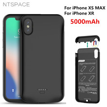 NTSPACE 5000mAh External Battery Charger Cases For iPhone XR Power Bank Charging Case For iPhone XS Max Power Case Support Audio original sigelei swallowtail 75a support charging of power on off and charging max current can reach 2 5a without 18650 battery
