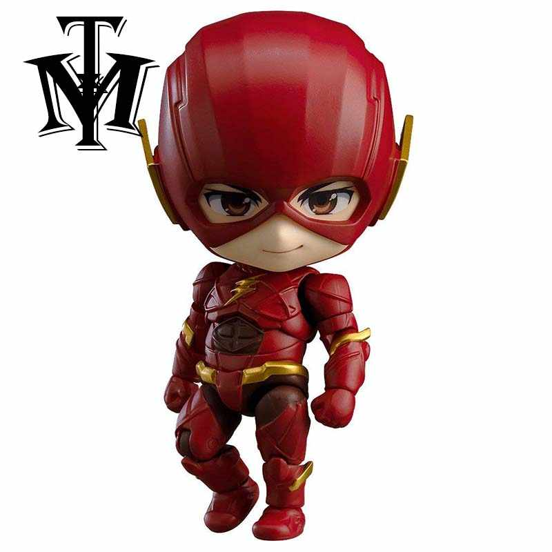 Хорошая улыбка Аниме DC комиксы Лига Справедливости Супер герой флэш Nendoroid #917 ПВХ фигурка Коллекционная модель милые куклы игрушки
