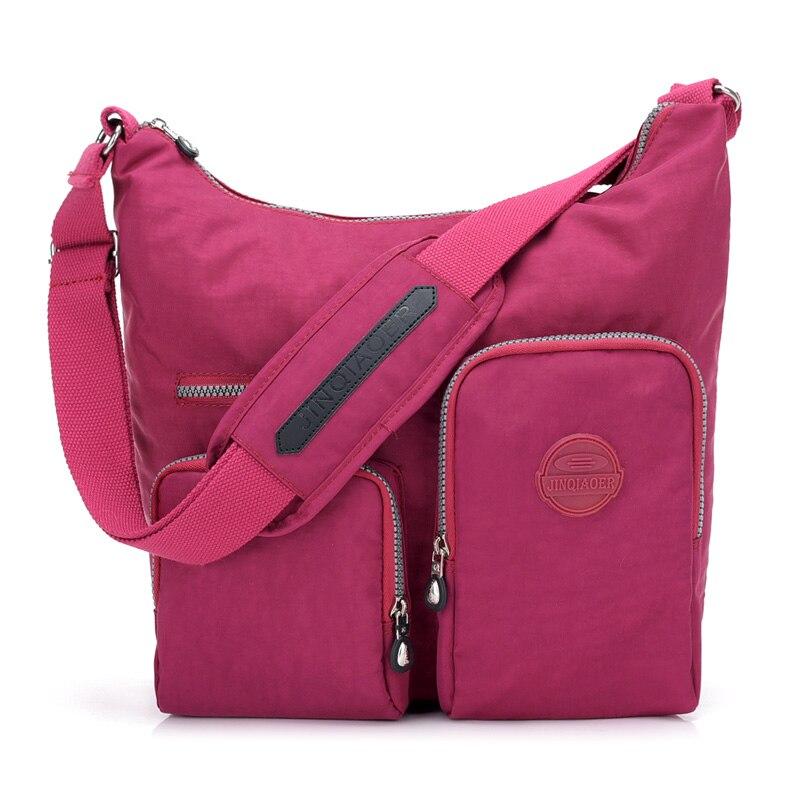 New Waterproof Women Messenger Bag Double Shoulder Bag Designer Handbags High Quality Nylon Female Crossbody Bag Bolsas Sac