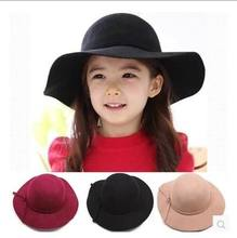 2016 New Girl Princess Hats England Style Cotton Sunhats Children Accessories 2-7T 3301