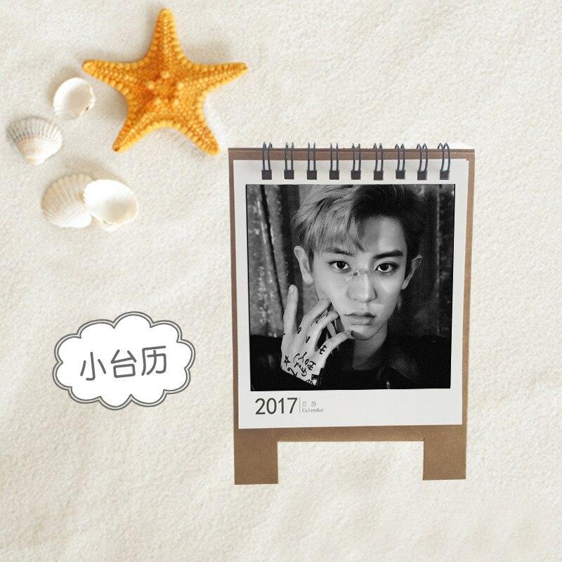 k-pop KPOP EXO EXACT CHANYEOL Album 2017 Desk Calendar Desktop Office Desk Supplies School Korean Style Calendar Notes k pop