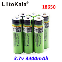 6 unids / lot New 2015 protected 18650 rechargeable battery for Panasonic ncr18650b 3400 mAh 3.7 V PCB Free Shipping