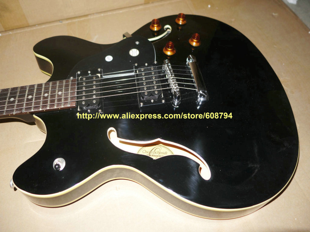 stock guitar black hollow body jazz electric guitar sell cheap china guitar free shipping. Black Bedroom Furniture Sets. Home Design Ideas