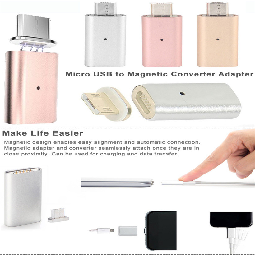 CARPRIE Hot Micro USB Magnetic Adapter Charger Cable Metal Plug For Android 180205 drop shipping