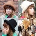 2015 wholesale fashion knitted crochet women wool hat bucket hat winter warm cap women fashion hat