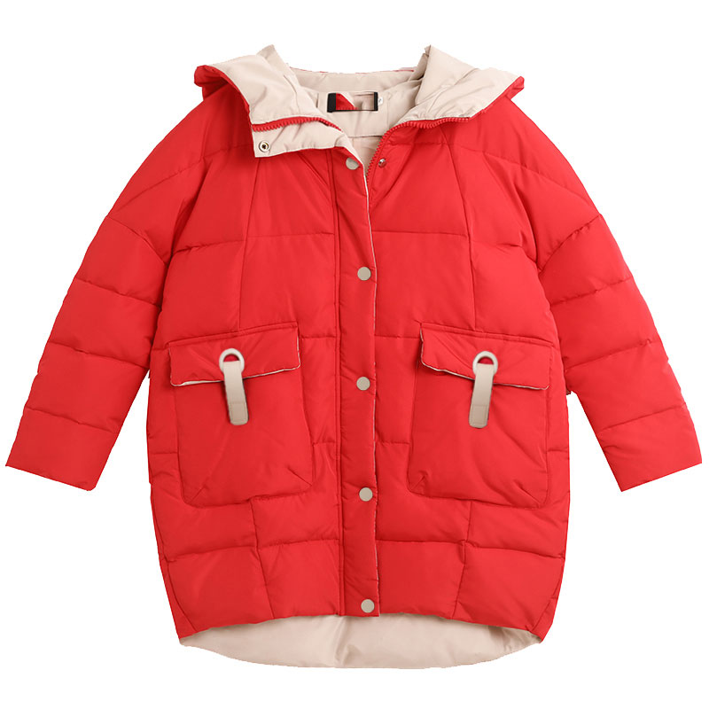 Étudiant Chaud Le Coton Black Garder Bas Rembourré Coréenne Veste Populaire Manteau Occasionnel 44 beige Lâche À Femmes Capuchon red Long D'hiver Vers Au 2018 OHr1fpOwAq