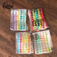 QITAI 8 blätter Zucker Streusel Selbst-adhesive Emaille Dots Harz Aufkleber für Scrapbooking/DIY Handwerk/Karte, Der dekoration ES001