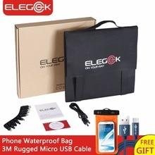 Elegeek 50 Вт портативный Складная Солнечное зарядное устройство usb 5 В Открытый Отдых DC 12 В солнечное зарядное устройство для телефон/ноутбук