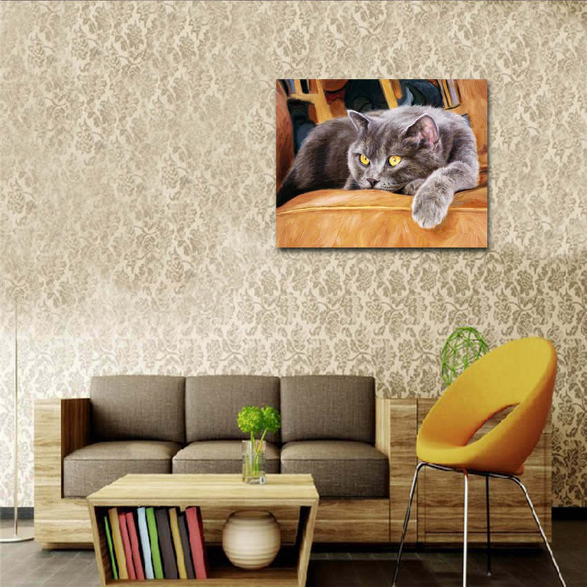 Wall Pictures For Living Room Drawing By Number Painting By Numbers Drinking Woman in Painting Calligraphy from Home Garden